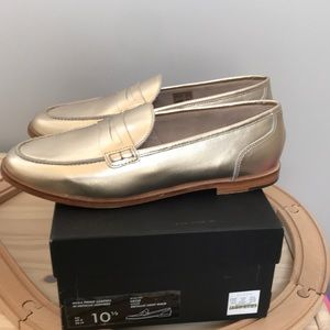 New* J Crew Nora Penny Loafers Metallic Leathers